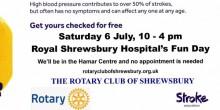 Free blood pressure tests Sat 6 July at RSH Fun Day