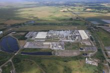 Aerial view of Shotton Paper Mill