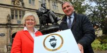 (L-R) Professor Anna Sutton, Provost Of University Centre Shrewsbury and Robin Morris, Chairman of Morris & Company