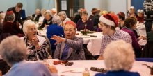 Senior citizens enjoy free Christmas meal thanks to Adams College students