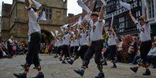 Morris dancers in Shrewsbury's Square