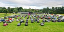 Cars parked at the first Shropshire Drive-in