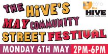 Street party and May community Festival with the Hive