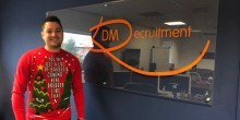 Stuart Danks at DM Recruitment getting in to the festive spirit