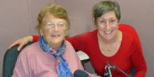 Susan Wilding (left) and Diane Monether in the WSTN studio