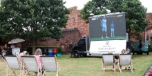 Tennis outside Shrewsbury Castle