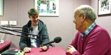 Towm Farrell (left) talking to Alan Wilding at the WSTN