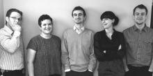 The members of Project WIP - Dale Shepherd, Sophie Ewan-Roberts, Lewis Moorcroft, Louise Tierney and Chris Jones