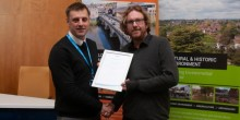 Councillor Rob Macey, Portfolio Holder for Planning and Housing Development at Shropshire Council with Craig Marston, director of Ke-Design.