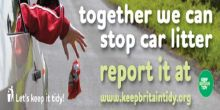 Keep Britain Tidy Car Litter Banner Ad
