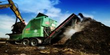 On-farm commercial shredding and composting
