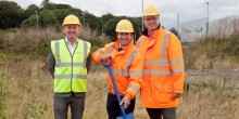 (l-r) James West from Morris Property, Chris Morris and Allan Binstead from Morris Site Machinery