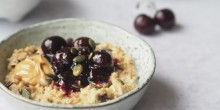 Cherry Bakewell porridge from newly lauched Oat Pantry