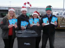 veolia distributing xmas leaflets